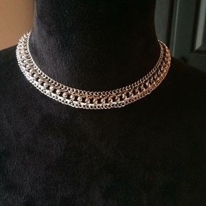 Vintage Sarah Coventry silver chain necklace